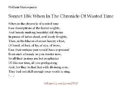 sonnet 106 william shakespeare