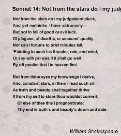 shakespeare sonnet 14